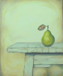 Pear on a Table